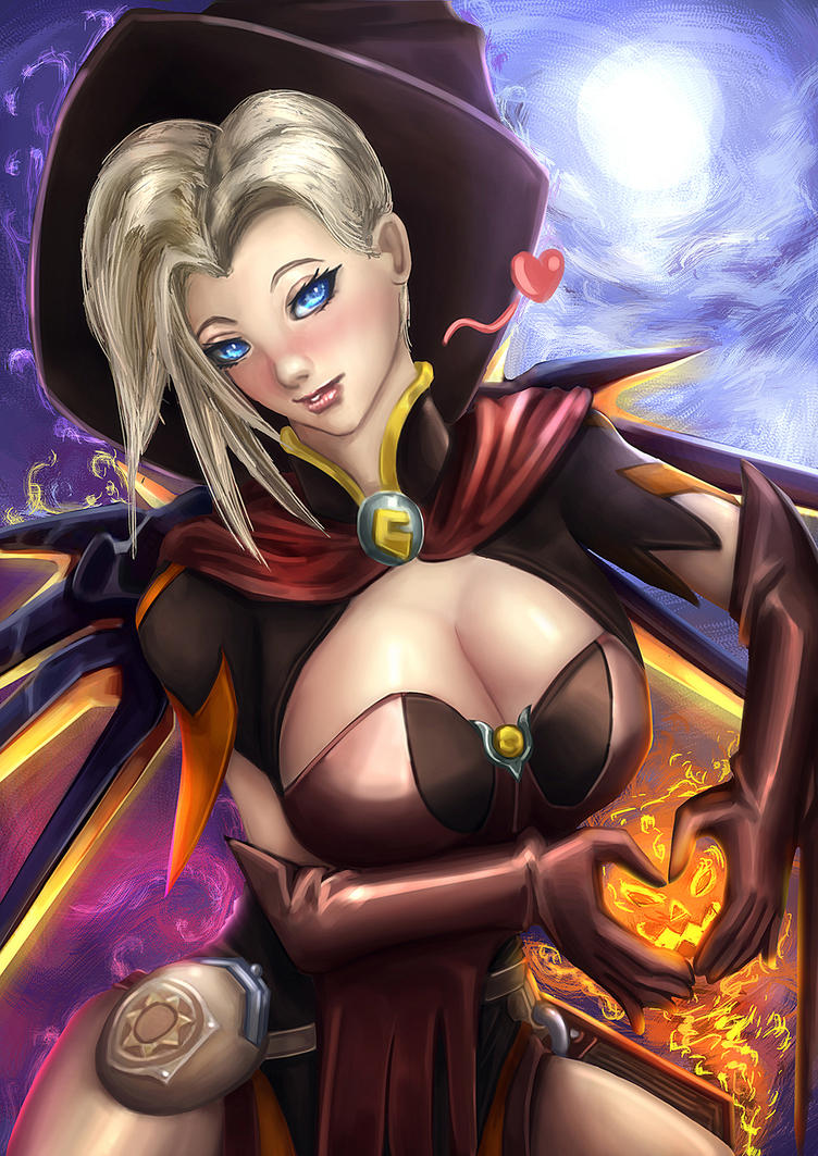 Happy Halloween (Mercy from Overwatch) by MrHONOO on DeviantArt