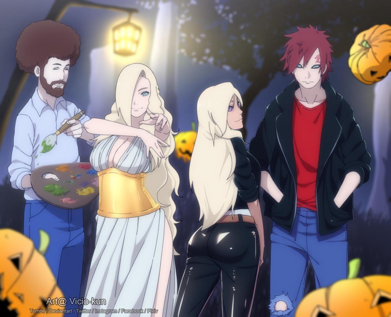 Commission - Konoha's Halloween Party by vicio-kun