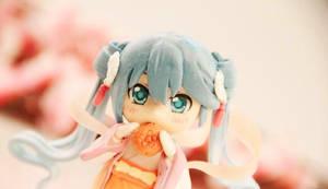 hatsune miku handmade clay doll