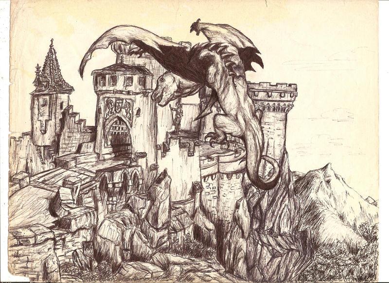 Dragon Attack by DiabloJoe