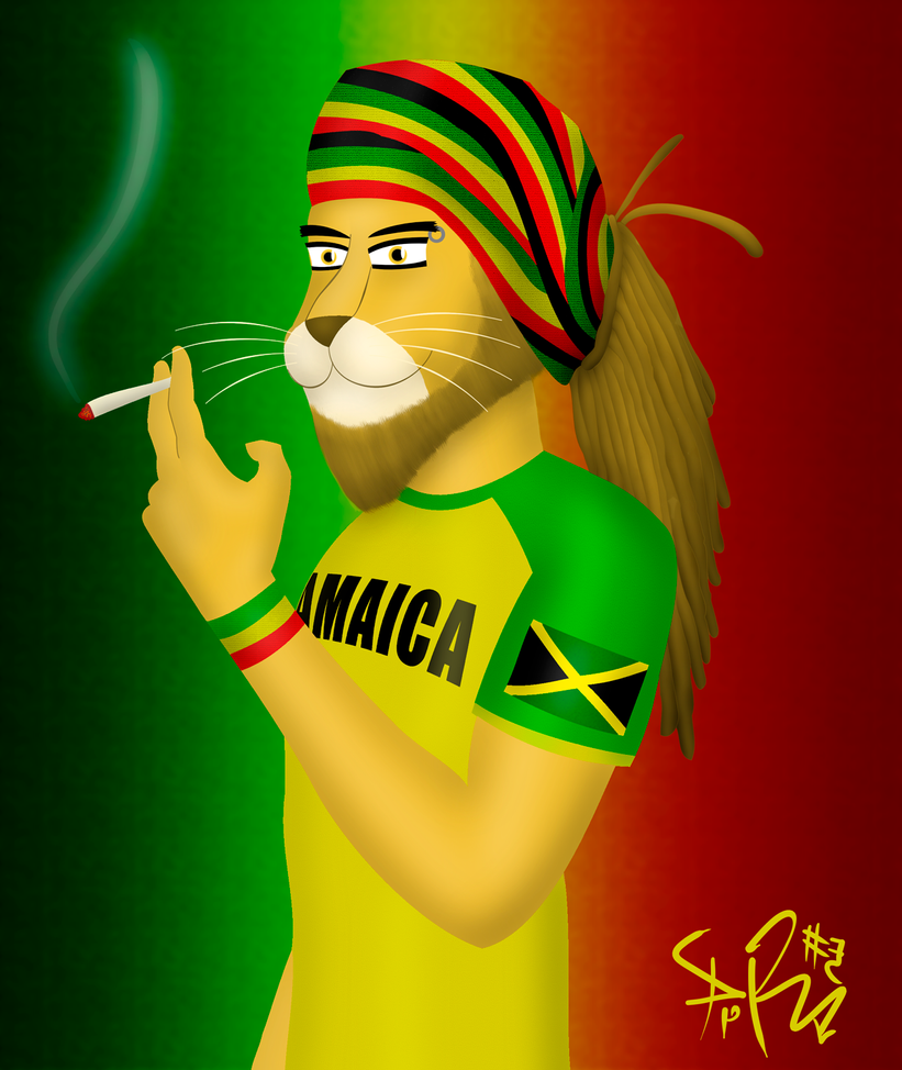 Rasta Lion by prrrk03
