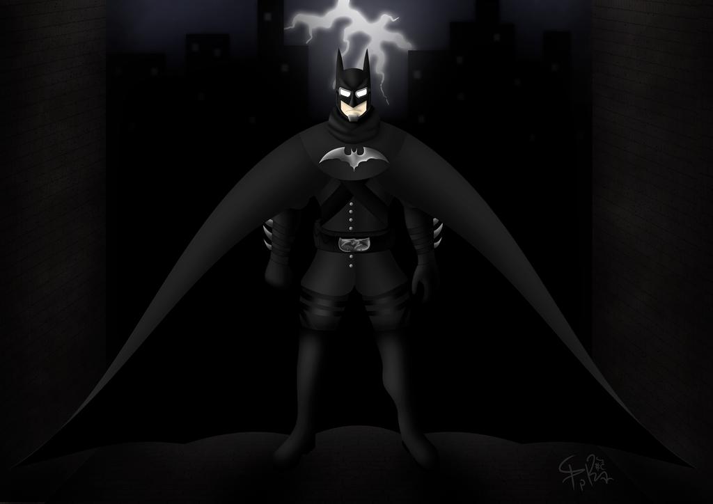 Steampunk-Noir Batman by prrrk03