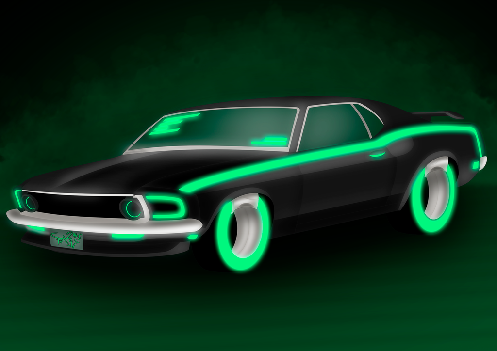1969 Ford Mustang Boss Tron: Legacy Style by prrrk03