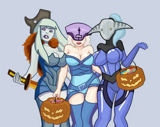 Trick or treat (dota 2 halloween) by AHTiXPiCT
