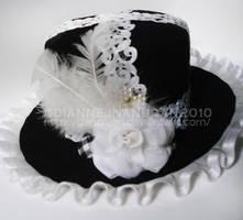 ShiroxKuro Lolita Hat by yAnchAm