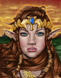 Princess Zelda Coloring by Eunice55
