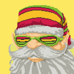 Santa Claus portrait for the Cannabis game by angrybudcom