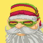 Santa Claus portrait for the Cannabis game by angrybudcom