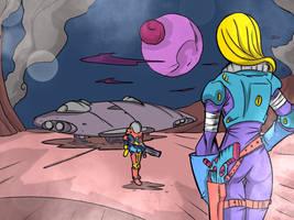 Blacknova Traders - space game fanart by angrybudcom