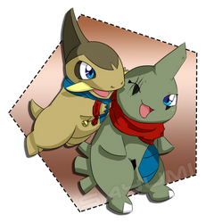Acey and Zaccy *~* (Contest Entry for pichu90) by xSayumi