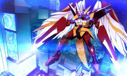 C: Rakuenwolf Gundam by Pocketstash