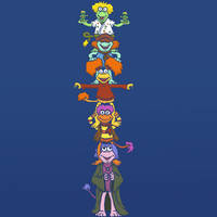 Fan Friday - The Fraggle Totem by KahunaBlair