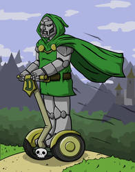 Dr. Doom on his Segway