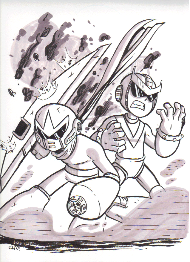 Commission From Chad Thomas: Break Man and Quint by Bassiroth