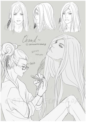 OC quick sketches: Chand by cathrine6mirror