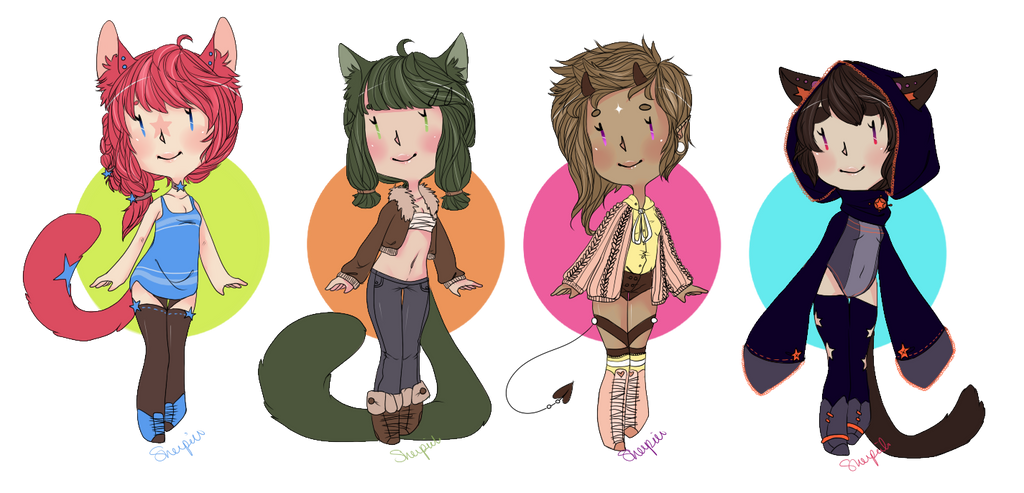 Adoptables03 - 2 and 3 left - $7 - Free Icon