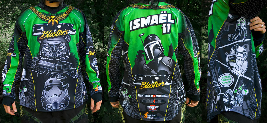 Ewok Blaster Paintball jersey2 by ismaelArt