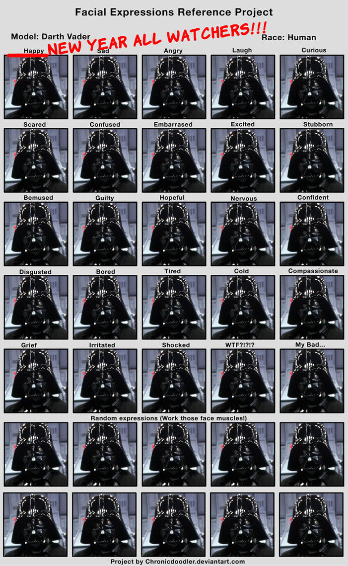 Happy new year Darth Vader expressions by ismaelArt