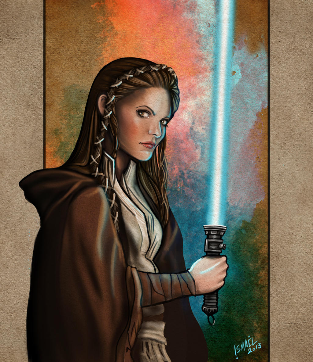 Jaina Leia Solo jedi, Star Wars episode 7 by ismaelArt