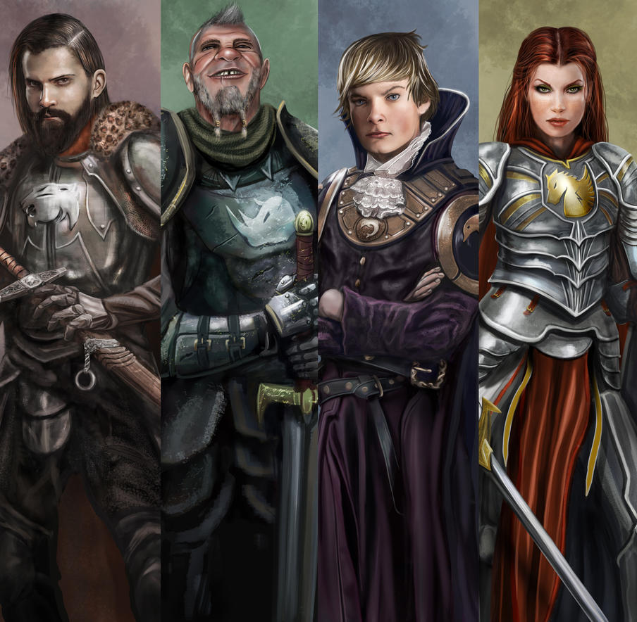 Barony Game board caracters by ismaelArt