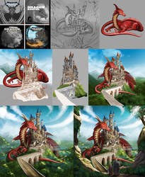 Dragon Keeper Cover WIP by ismaelArt