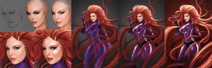 Medusa - Inhumans Marvel - Steps by ismaelArt