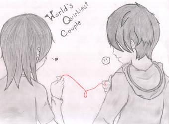 World's Quirkies Couple by kaylaredwood