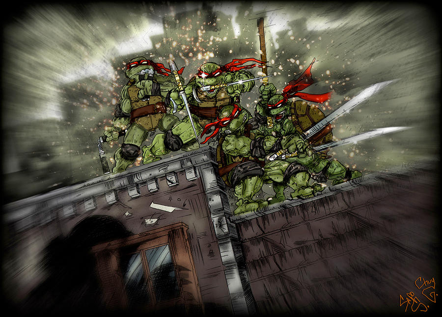 TMNT HOMAGE COLORED by U-D0NT-KN0W-ME