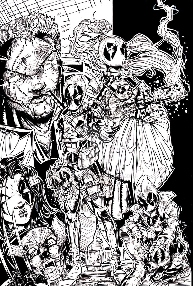 DEADPOOL AND FRIENDS COMMISH by U-D0NT-KN0W-ME