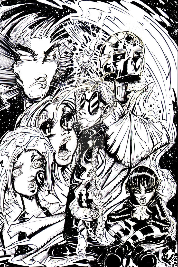 SCATTERED COMICS INKED COVER FUNNY CLOUDS by U-D0NT-KN0W-ME