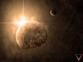 Burning Nebula by CommanderEVE