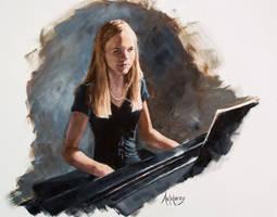 Kadee on the Piano by AdamAntaloczy