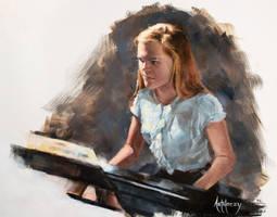 Carree on the Piano by AdamAntaloczy