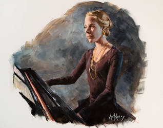 Erin on the Piano by AdamAntaloczy