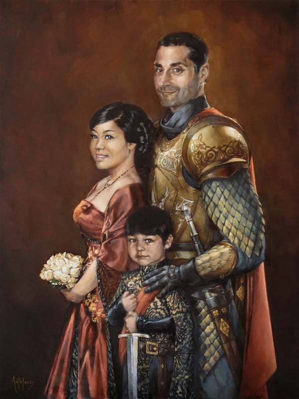 Medieval Portrait by AdamAntaloczy