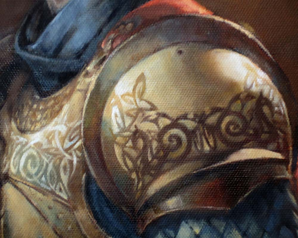 Medieval Portrait Detail B by AdamAntaloczy