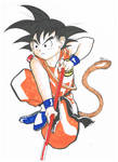 Son Goku with power pole