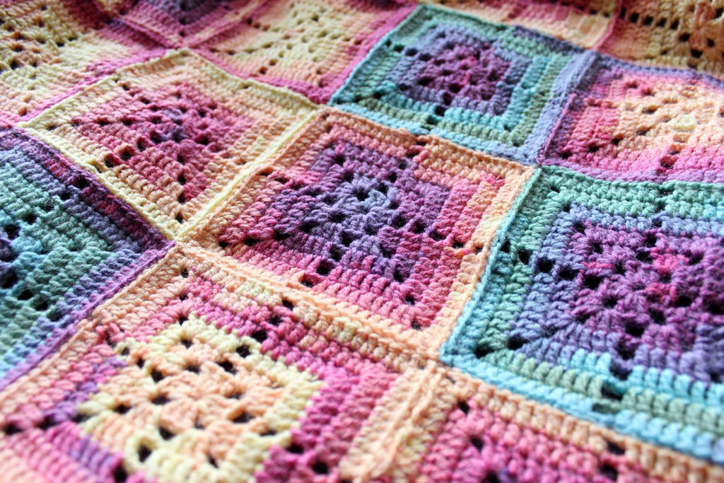 crochet baby blanket closeup by rosemaryjayne
