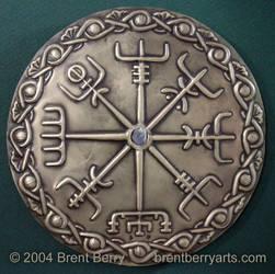 Brass Vegvisir, Viking Compass by Vegvisir