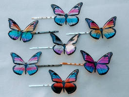 pride flag butterfly bobby pins