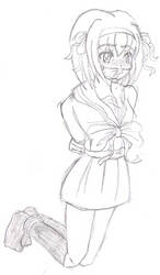 Haruhi tied up by Fecius