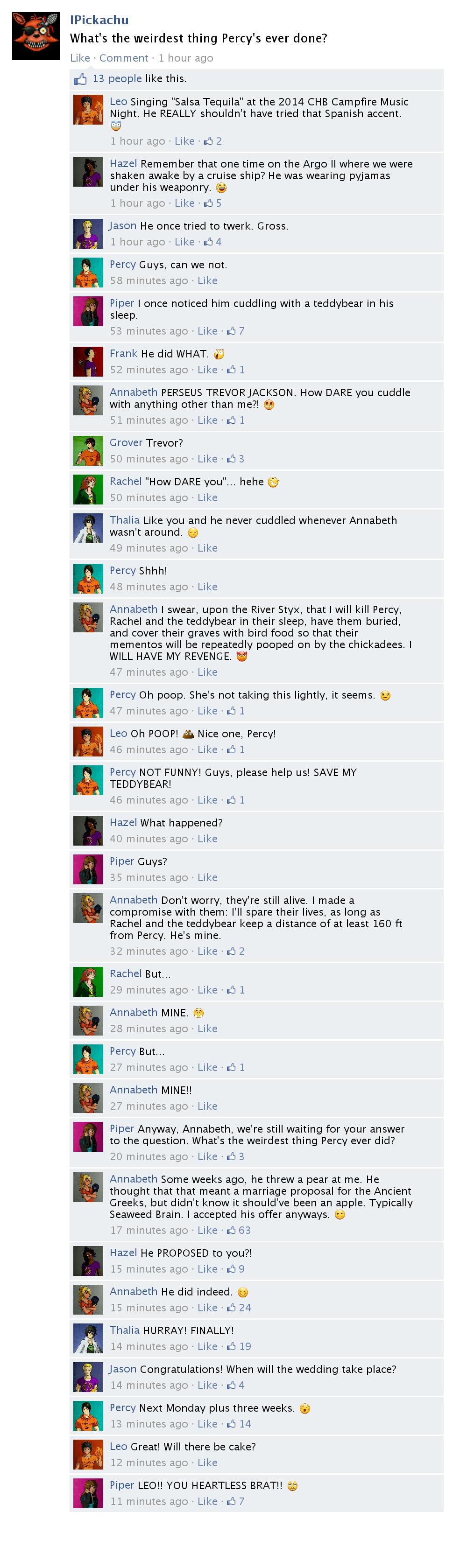 Demigods @ Facebook - Weird Percy by GerontiusM on DeviantArt