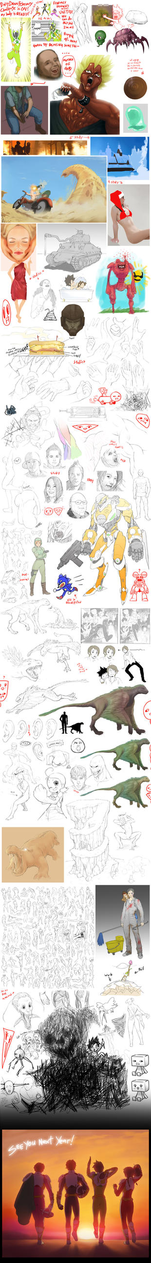 Daily Draw Feb 2012 by yanoodle