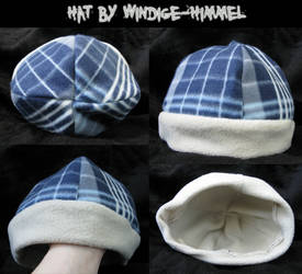 Plaid hat with scarf 15$