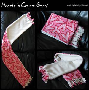 Hearts n' Cream Scarf -14$