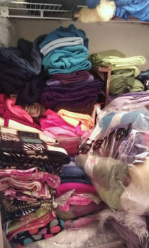 my closet full of fabric