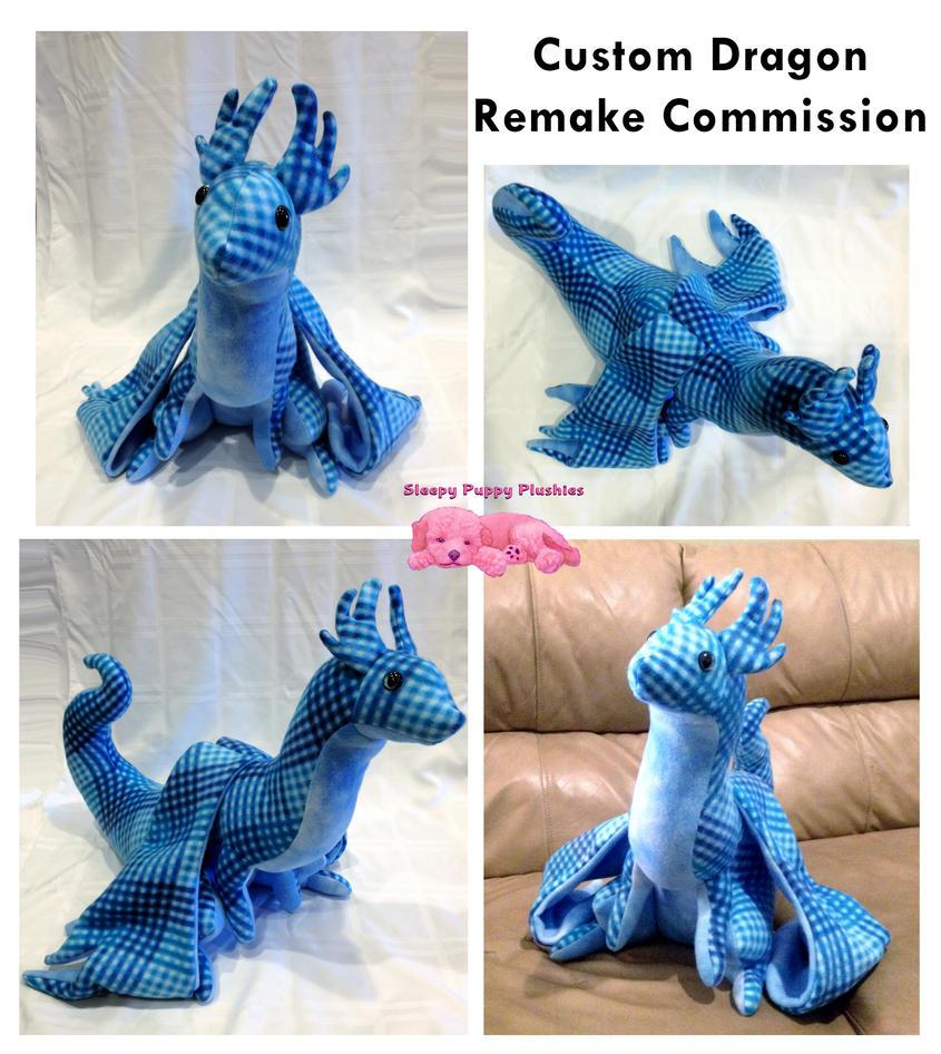 Custom Winter Dragon Plushie by SPPlushies