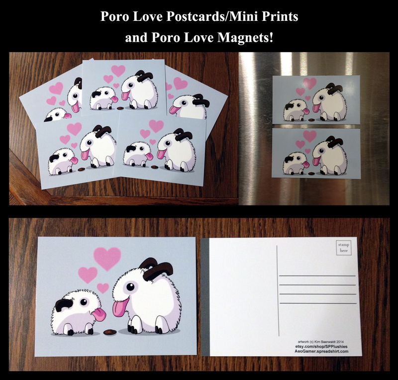 Poro love postcards/mini prints and magnets by SPPlushies