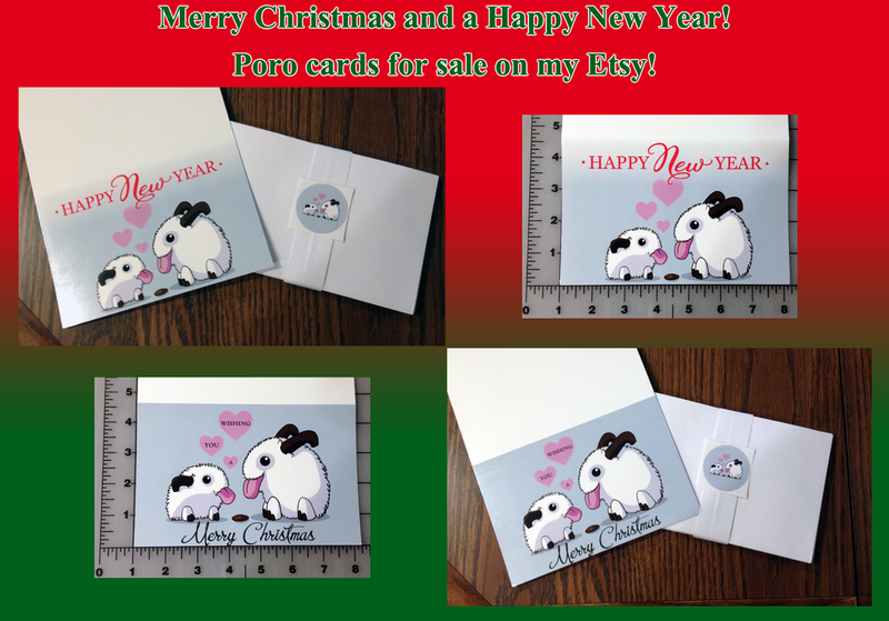 xmas/new years Poro Love cards by SPPlushies