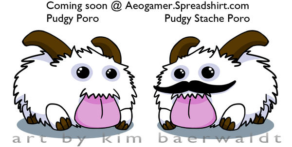 Pudgy Poro + Stache by SPPlushies